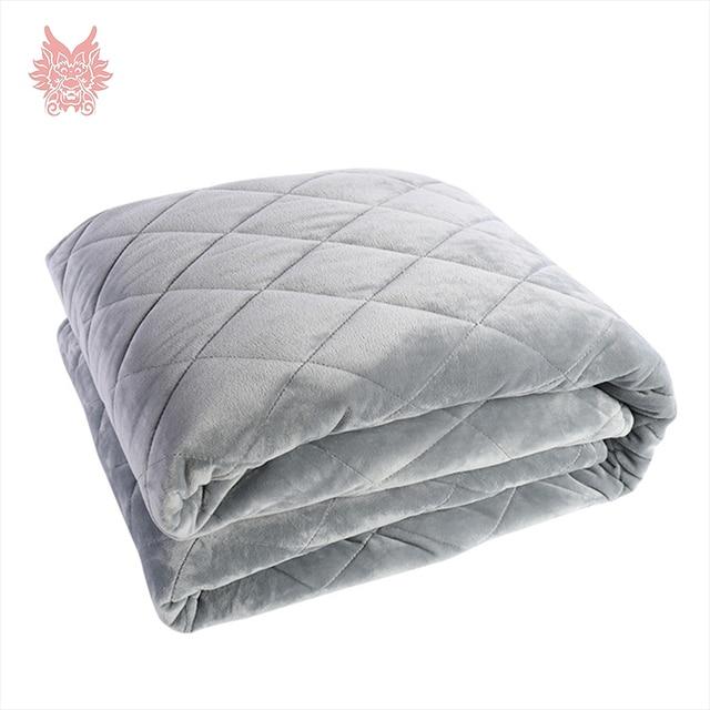 Серый плед стеганый флис гравитационное одеяло пододеяльник для беспокойства, бессонница стресс-Премиум различные Люди большой сон SP5450