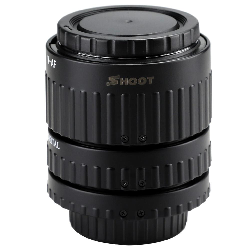 12mm, 20mm, 36mm Auto Focus Macro Tube d'extension Set pour Nikon d3200 SLR AF AF-S D G et VR objectif appareil photo pour accessoires Nikon