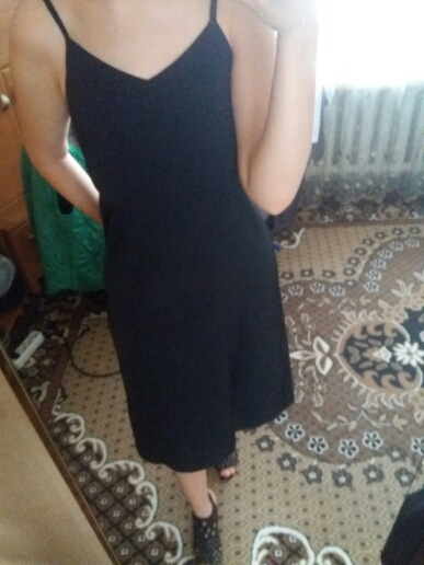 Sexy Women Maxi Dress Loose Sleeveless Dresses V Neck Sling Long Black Party Dress photo review