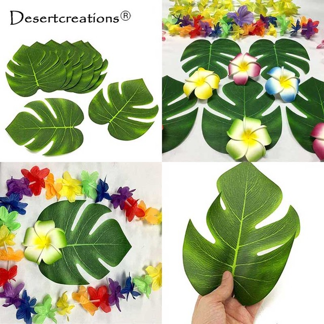 Beach theme wedding table decoration accessories 12pcs artificial beach theme wedding table decoration accessories 12pcs artificial tropical palm leaves for hawaii luau party decorations junglespirit Images
