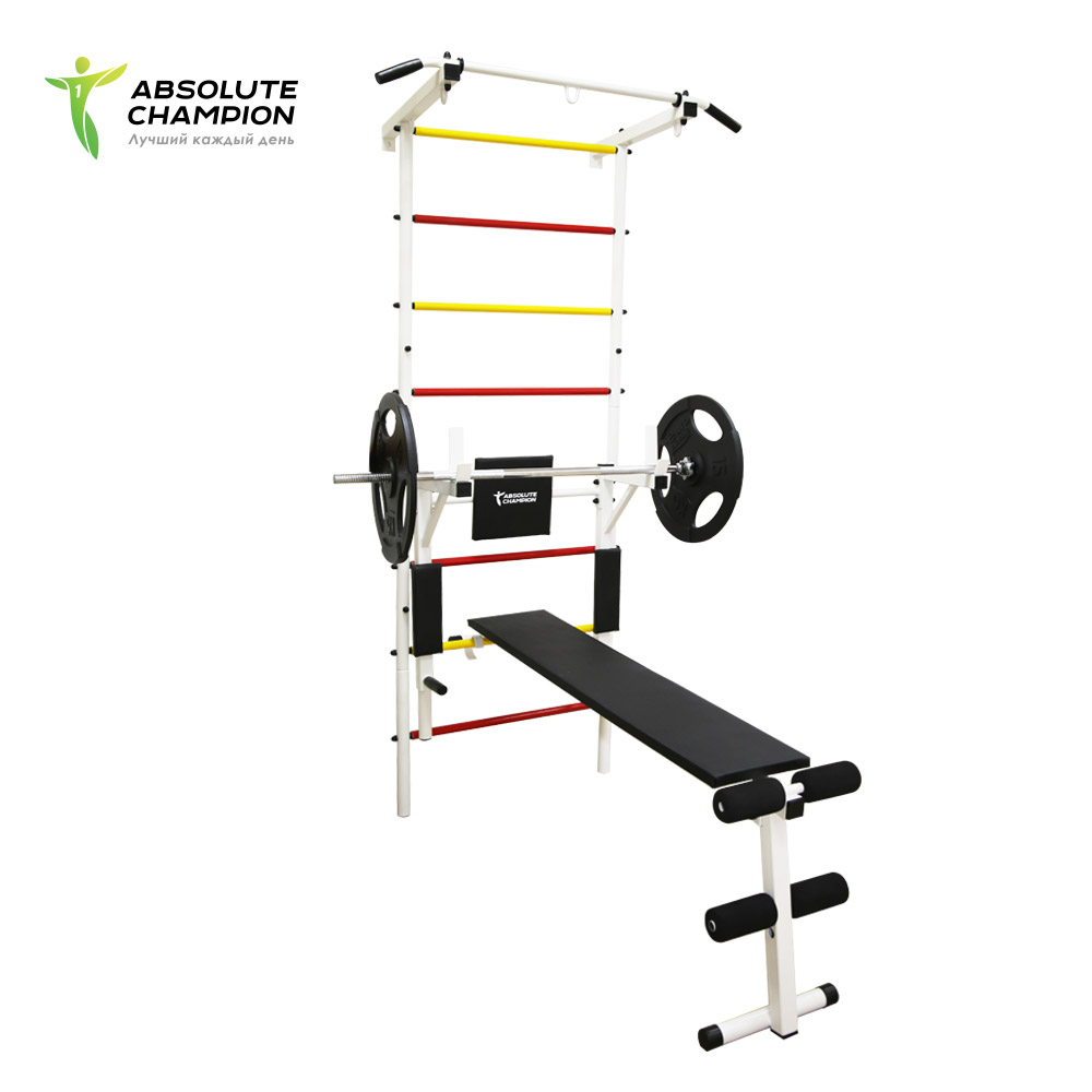Family Sports Complex horizontal bar barbell bench wall bars for the whole family Absolute Champion horizontal bar parallel bars 3in1 titan absolute champion