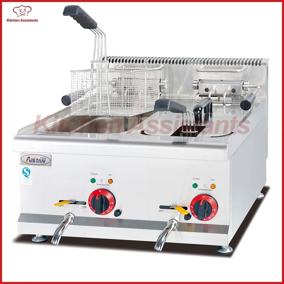 Eh685 16l Kommerziellen Zähler Top Edelstahl Kartoffel Große Kapazität Huhn Friteuse Maschine Mit Korb Verbraucher Zuerst Haushaltsgeräte