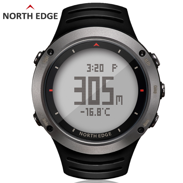 En el borde norte de los hombres deporte Digital Reloj horas corriendo  natación deportes relojes altímetro barómetro brújula termómetro clima  hombres 903955090441