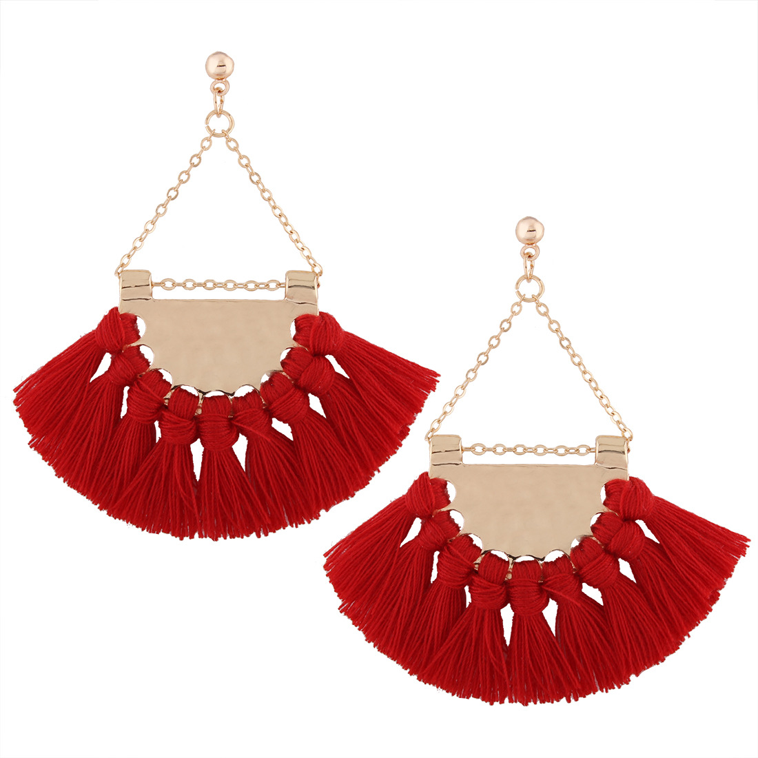zheFanku Bohemia Tassel Earrings Women Ethnic Jewelry