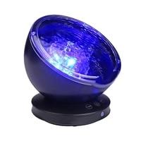 Music Starry Sky Night Light 7 Colors Aurora Ocean Wave Projector LED USB Lamp Nightlight Baby