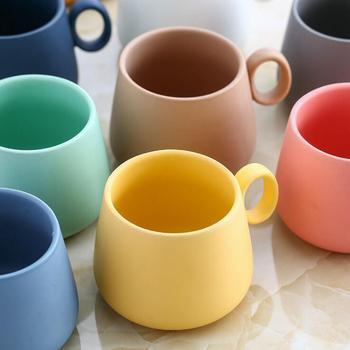 Macaron Color Matte Coffee Mug Cup  1