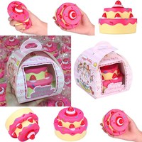 Vlampo For Squishy Layer Birthday Cake Slow Rising Original Packaging Box Gift Collection Decor Toy Phone