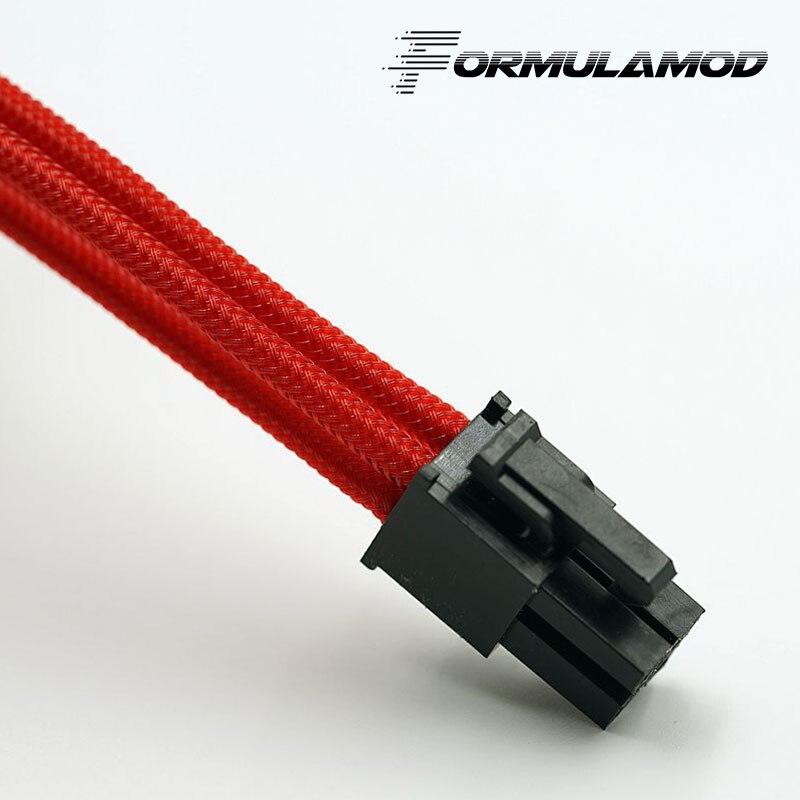 FormulaMod Fm-cpu 4P-A, cpu 4Pin удлинитель питания, материнская плата 18AWG 4Pin многоцветные соответствующие кабели расширения - Цвет лезвия: Red