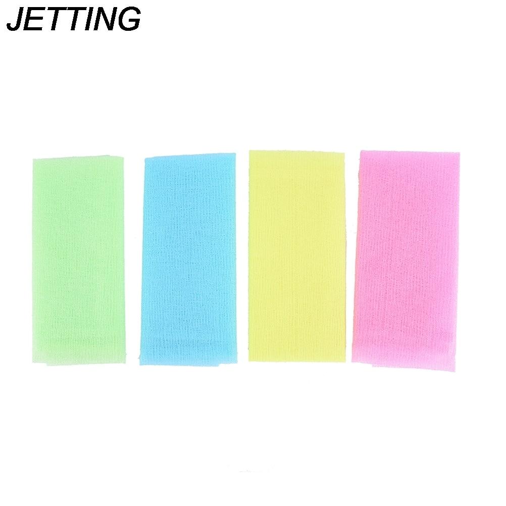5pcs lot Nylon Japanese Exfoliating Beauty Skin Bath Shower Wash Cloth Towel Back Scrub Body Cleaning
