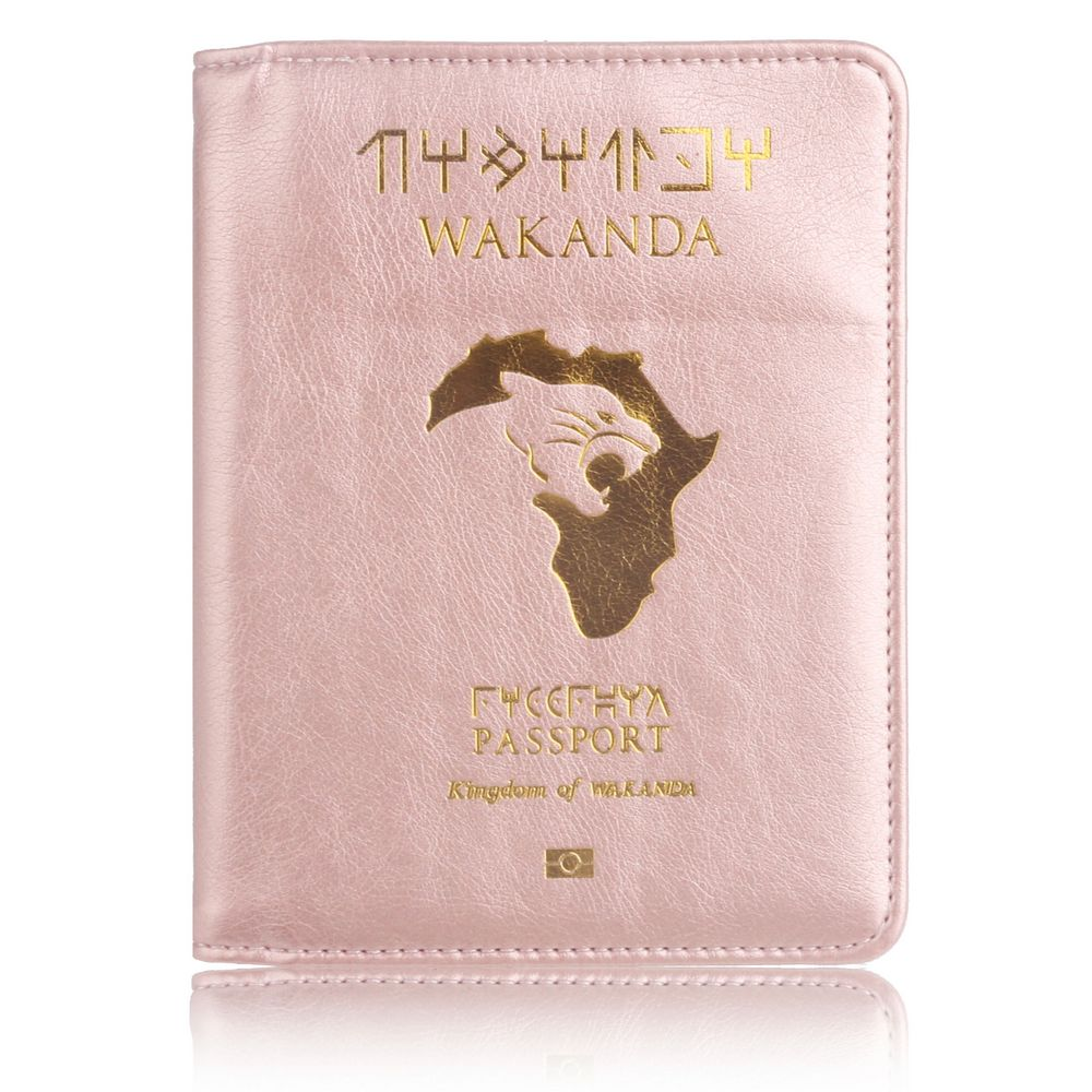 TRASSORY RFID Blocking Wakanda Forever Black Panther Marvels The Avengers Leather Travel Passport Cover Holder Bag OrgonizerTRASSORY RFID Blocking Wakanda Forever Black Panther Marvels The Avengers Leather Travel Passport Cover Holder Bag Orgonizer