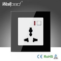 Hot Sales EU Wallpad Black Glass LED 110 250V Phone Wifi Wireless Remote Control Universal Power