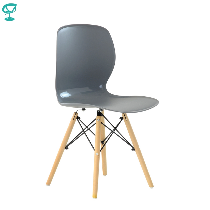 N120Grey Barneo N-120 Plastic Wood Kitchen Breakfast Interior Stool Bar Chair Kitchen Furniture Grey Free Shipping In Russia