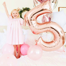 STARLZMU 0123456789 happy birthday balloons Rose Gold number balloon gold Crown ballon 1st party supplies