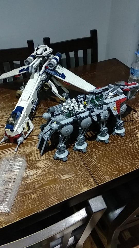 LEPIN 05053 Star Wars The 10195 Republic Dropship Block Set (1788Pcs) photo review