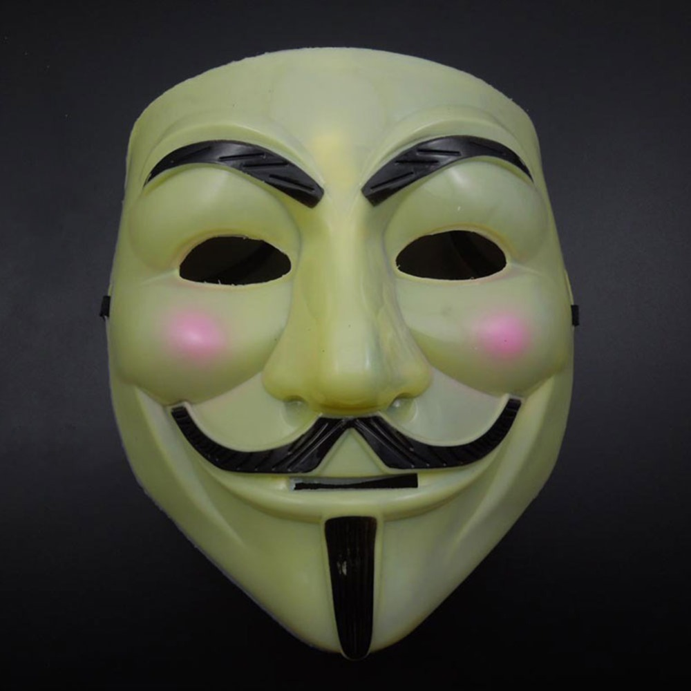 Image 4 - Hot Sale White/Gold/Silver/Yellow V for Vendetta Guy Fawkes Mask Anonymous Halloween Cosplay Costumes Party Supplies Scary prop-in Party Masks from Home & Garden