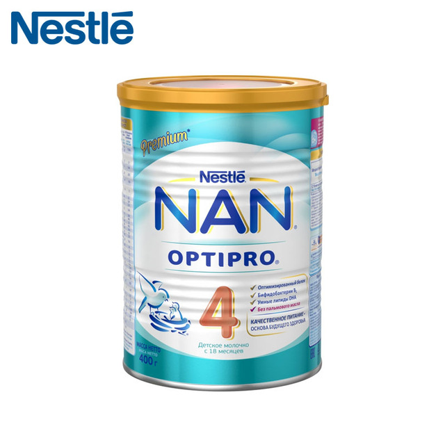 Детская Смесь NAN 4 Optipro (Nestle) с 18 месяцев 400г (Срок годности до 2019.10.06)