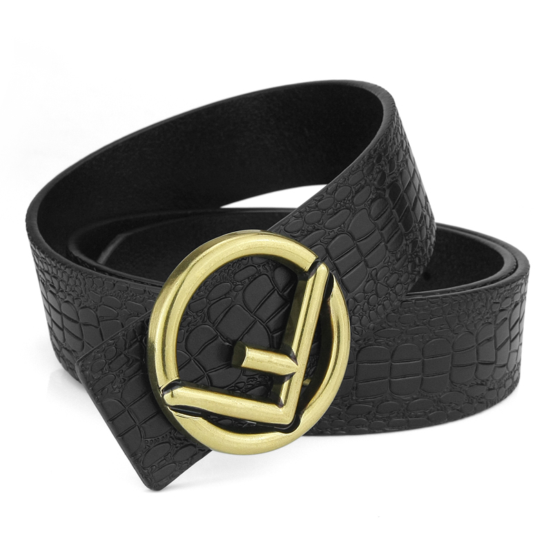 87b75eadf293 Nouveau mode haute qualité designer ceinture hommes véritable en cuir ...