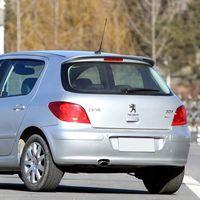 For Peugeot 307 Spoiler High Quality ABS Material Car Rear Wing Primer Color Rear Spoiler For Peugeot 307 Spoiler 2006 2012