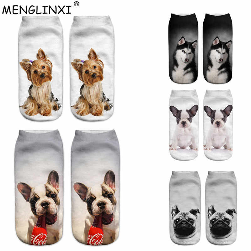 3D Dogs Print 2019 New Design Women Socks Brand Sock Fashion Unisex Christmas Socks Meias Female Funny Femme Sock Drop Shipping