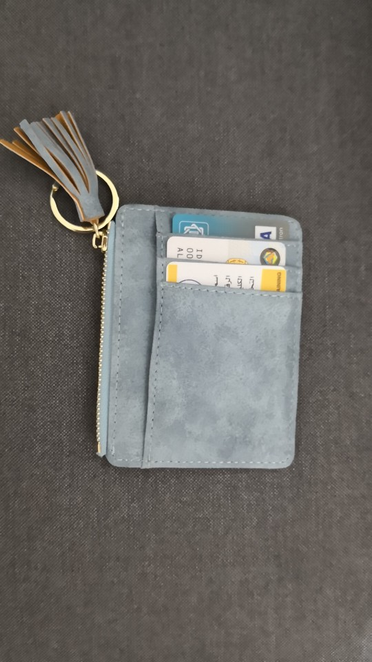 OTHERCHIC Nubuck Leather Mini Tassel Women Card Holder Cute ID Key Card Holders Girl's Fringe Change Coin Purse Keychain 7N02-08 photo review