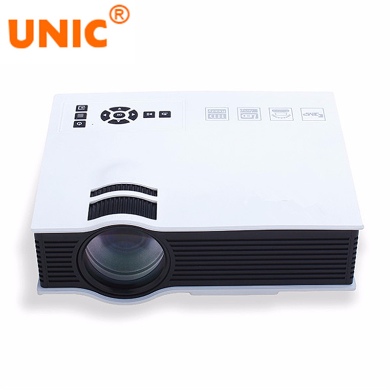 UNIC UC40 LED Projector 800 Lumens 800 x 480 Pixels USB/AV/SD/HDMI/IR Home Theater Beamer for Movies Entertaining gp802a mini portable led projector 200 lumens 480 320 pixels contrast ratio 600 1 with hdmi vga usb av tv sd port home theater