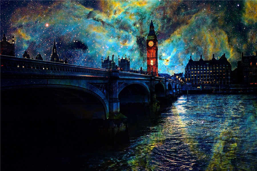 5d diamond painting Scenic British city, London full drill square diamond embroidery Cross stitch rhinestones Wedding decoration