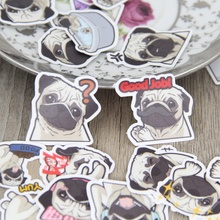 40 Pcs lot Pug expression paper Sticker Decal For font b Phone b font Car Case