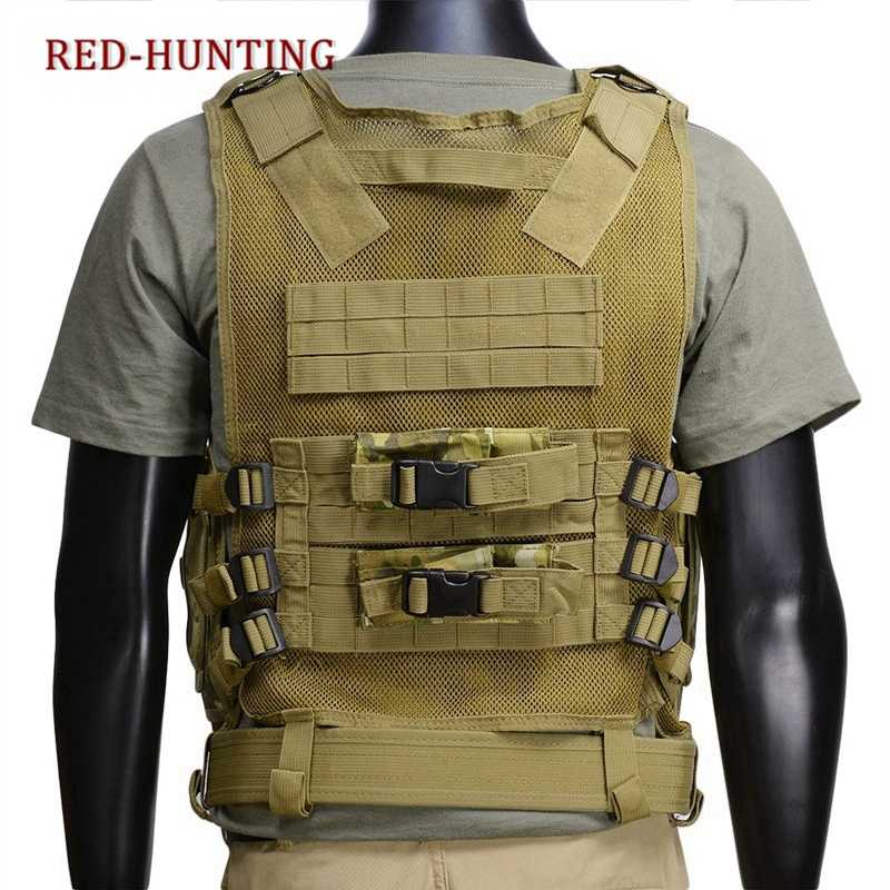 Chaleco táctico Militar del Ejército de los EE. UU., chaleco de caza de la armadura del cuerpo de Wargame, equipo de productos al aire libre de la caza con la pistolera de la pistola