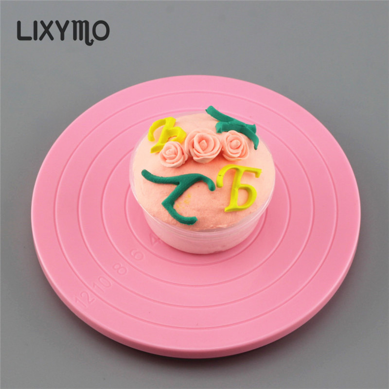 LIXYMO 5inch Cake cupcake MINI Turntable Stands 14cm top Sugarcraft Decorating Rotating Revolving Platform necessary cake tools
