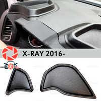 Organizador na frente do painel de console para Lada X-Ray 2016-plástico ABS em relevo bolso estilo do carro acessórios de decoração armazenamento