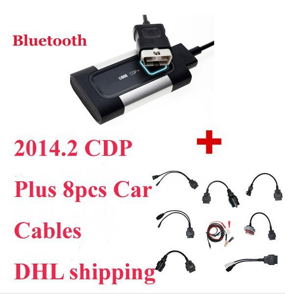 2017 Newest Bluetooth For Autocom CDP Pro Diagnostic 3 in 1 for Cars & Trucks Plus Full set car 8 Cables--DHL Free Shipping haptic information in cars