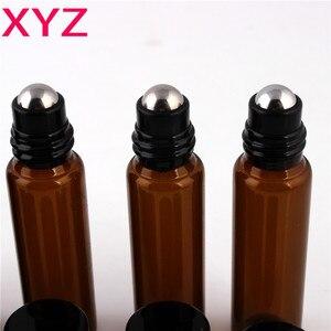 Image 4 - 100 Pieces/Pieces 10ml 1/6oz ROLL ON AMBRA Bottiglia di Profumo di Olio Essenziale di Aromaterapia Palla di Bottiglia di Trasporto Libero