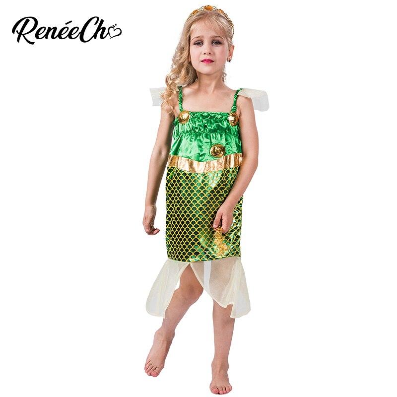 Halloween Costume Kids Mermaid Girls