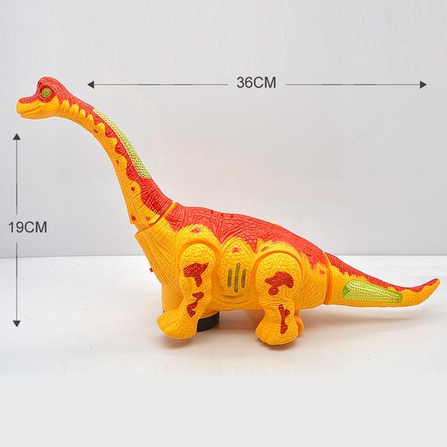 Фото игрушка электрическая ходячий динозавр робот с светильник кой