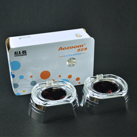 AOZOOM High Quality Square Decorative Cover With LED Daytime Running Lights For BMW Car