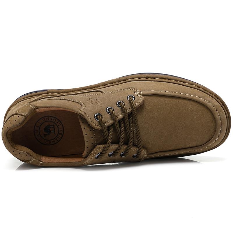 casual a uomo all'aperto A632374110gutong in fondo pelle cucito mano fatte antiscivolo Cammello spesso uomo vera scarpe xvAYqYwRH