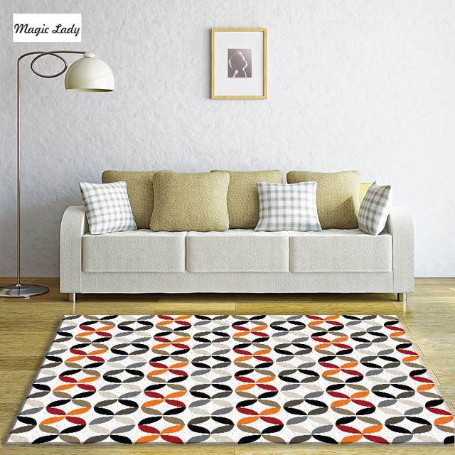 alfombra salón dormitorio patrón geométrico círculos formas