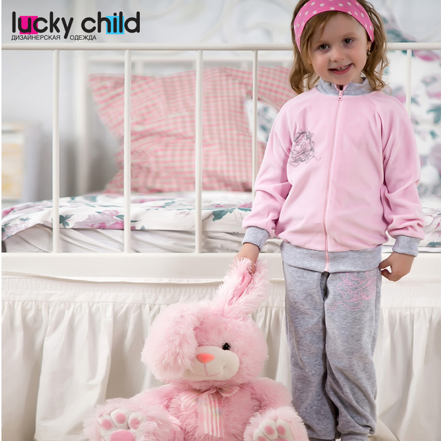 Комплект Lucky Child велюровый для девочек