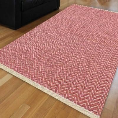 Autre rose blanc vague biais lignes géométriques authentiques ikat Nordec antidérapant Kilim lavable décoratif plaine peinture tissé tapis
