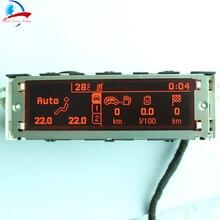 Suporte de tela vermelha usb e bluetooth duplo zona ar condicionado display vermelho monitor 12 pinos para peugeot 307 407 408 citroen c4 c5