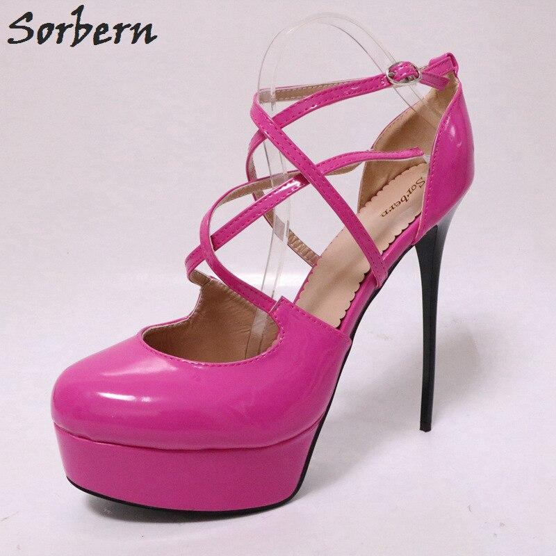 Sorbern Thin High Heel Women Pumps Platform Shoes Big Size Autumn Shoes  Women 15Cm Heels Fancy 84718efda50d