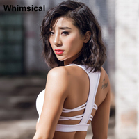 Whimsical Enthusiastic Vivid Orange Red High Impact Push Up Strappy Running Sports Bra Black Crop Top