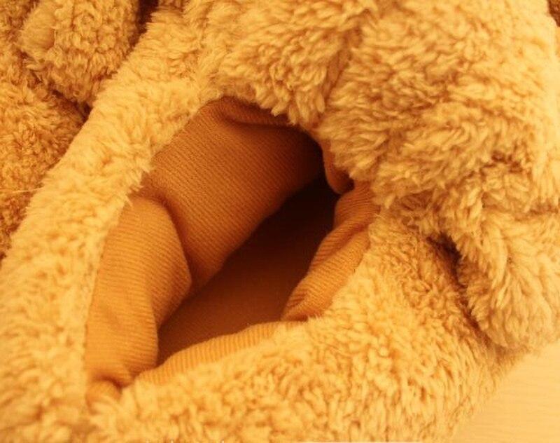 Orange Interior Zapatillas Y Hombres Perro Acolchado Algodón Mujer En Mujeres Casa De 2019 Invierno Para Animales Pantufas AqawBxnH