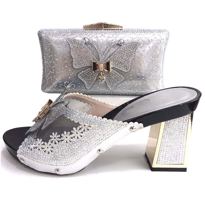 Butterfly lovely shoes and bag slipers and clutches african aso ebi party shoe and bag set new italian shoes and bag SB8248-4 все цены
