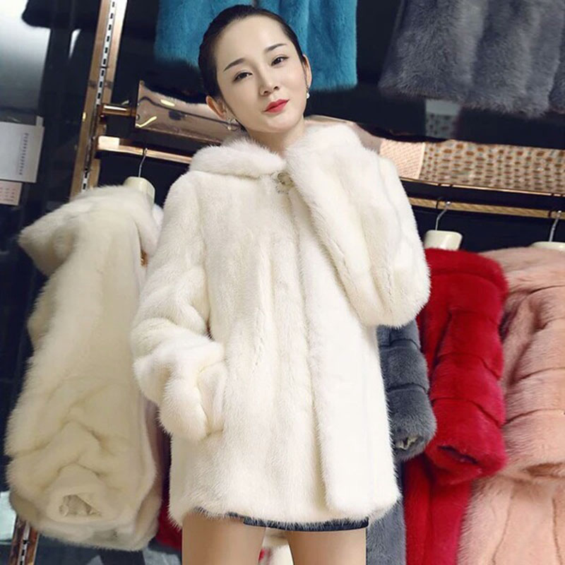 Women Winter Coats Outerwear Slim Long Pink Red Jacket Thicken Warm Faux Fur Coat Casual Shaggy
