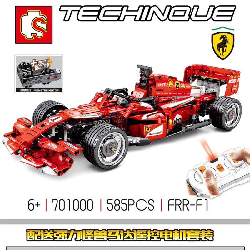 Oyuncaklar ve Hobi Ürünleri'ten Bloklar'de DHL 701000 585 Adet teknik F1 araba yarışı Uyumlu MOC legoinglys Uzaktan Kumanda RC Elektrikli hız modeli yapı taşları oyuncak'da  Grup 3