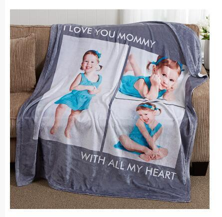 Print on demand, Dropshipping Picture Perfect Personalized Fleece Photo Blanket