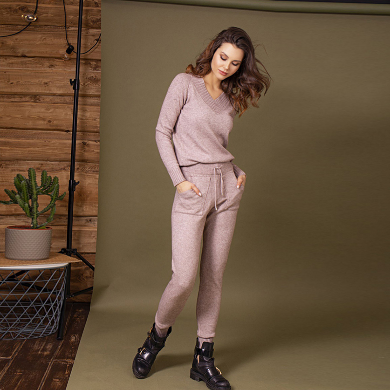 Pants knitted C.H.I.C female CHIC TmallFS chic lotus print wide leg pants for women