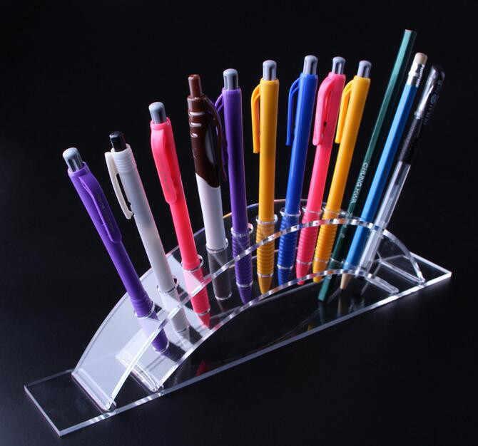 Pojemnik na długopisy kosmetyczne szczotki cień do powiek ołówek kolor długopis stojak na szminki stojak stojak kosmetet uchwyt podporowy pióro kryształowe półka