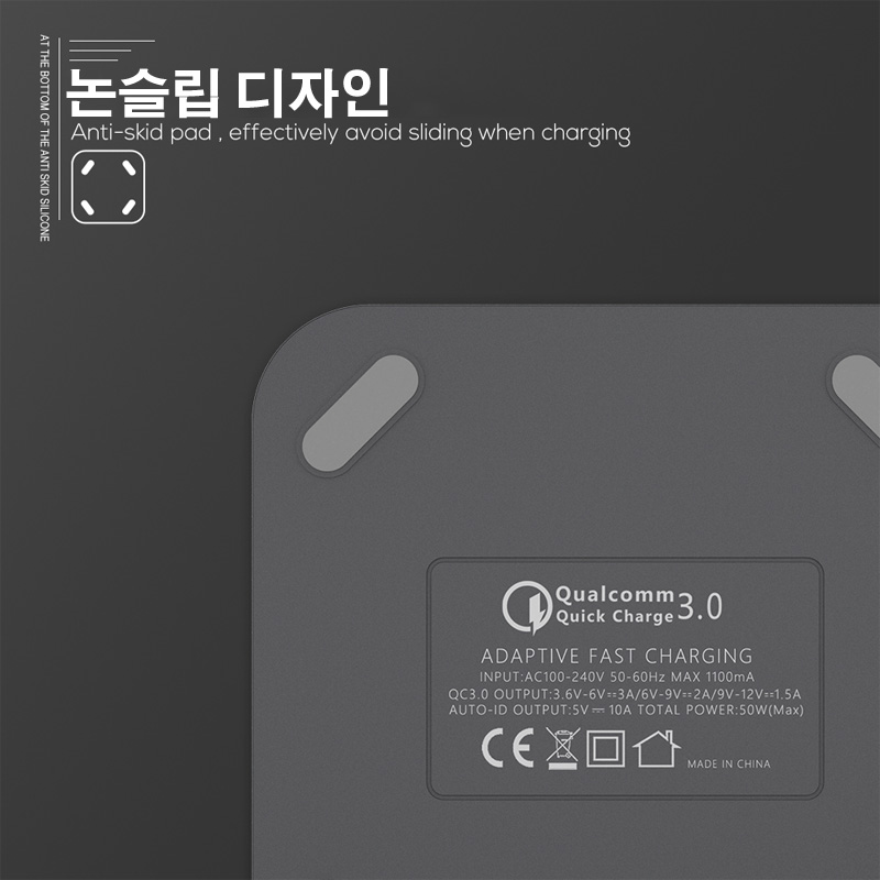 Image 3 - TOPK 8 Port Quick Charge 3.0 USB Charger Desktop Fast Phone Charger Adapter for iPhone Samsung XiaomiMobile Phone Chargers   -